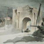 Russland 1942-43 Stadttor Gluchow Kriegsberichter H. Schneider.jpg