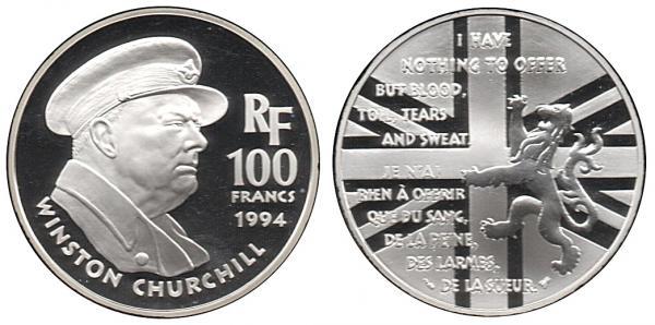 100 Francs Churchill 1994
