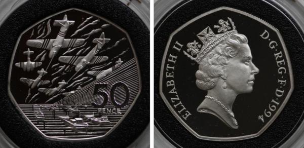 50 pence Brirtain 1994