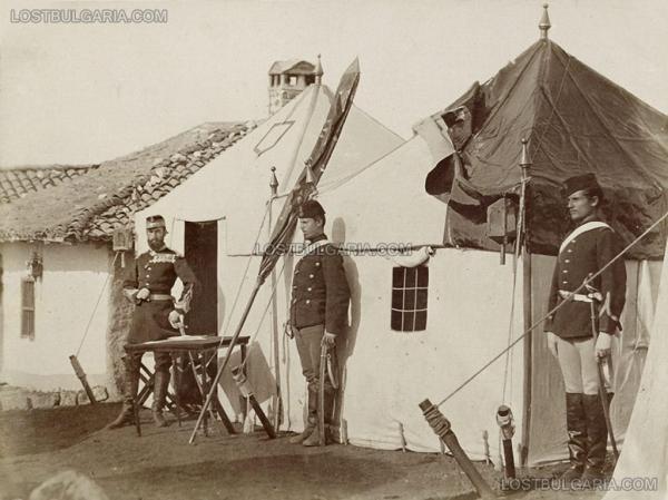 крал Карол I с охраната си пред втория си щаб в Пордим 1877 г. 01