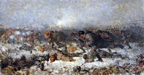 Nicolae Grigorescu   Atacul de la Smardan. Румыны в русско турецкой войне 1877 1878 гг.