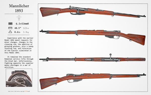 Romania Rifle 1893 Mannlicher 1893