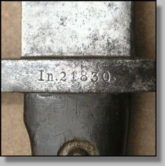 нож румынский обр. 1893 года к винтовке Манлихера обр. 1893 года 34