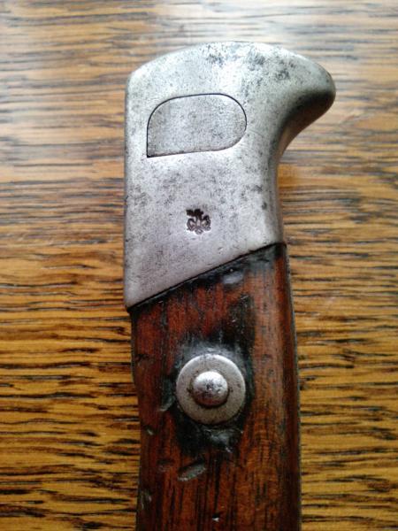 нож румынский обр. 1893 года к винтовке Манлихера обр. 1893 года 24