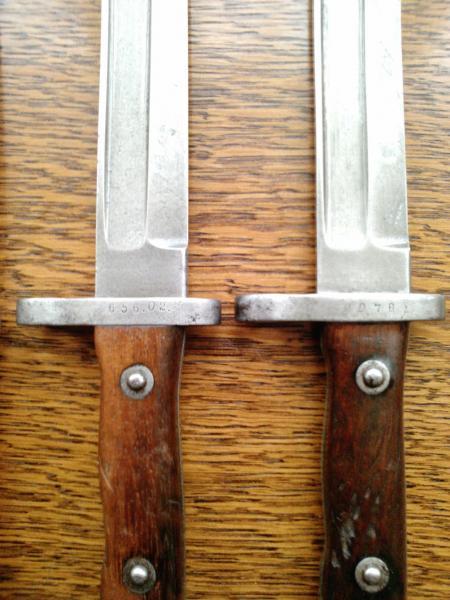 ножи румынские обр. 1893 года к винтовке Манлихера обр. 1893 года 08