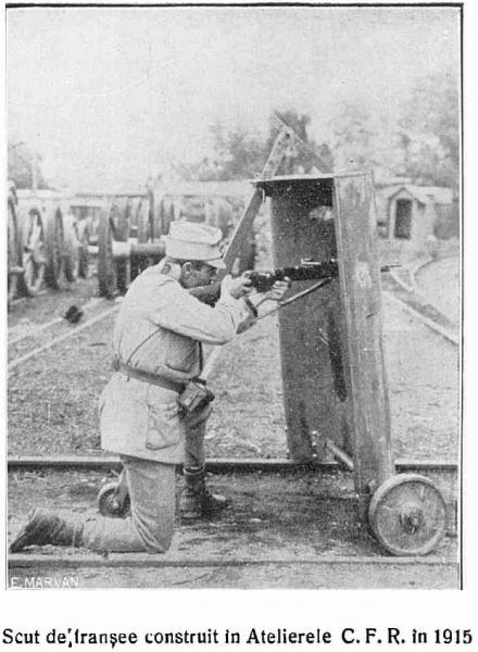 1915   Scut de tranşee construit la Atelierele CFR