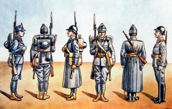 1916   Armata Romaniei   Uniforme de de soldati si ofiteri din primul Razboi Mondial