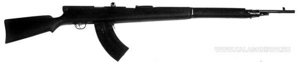 7,62 мм автоматическая (самозарядная) винтовка Фёдорова обр. 1913 года с магазином от ручного пулемёта Мадсена