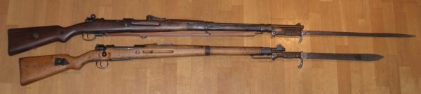 Mauser Gewehr 1898 и и карабин 98a со штыками