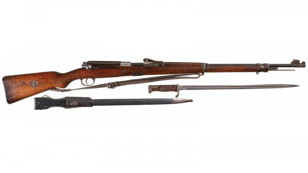 винтовка Gewehr Mauser 98 и штык обр. 1898 года (01)