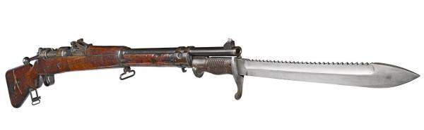 винтовка Gewehr Mauser 98 с примкнутым штыком обр. 1898 1905 года (01)