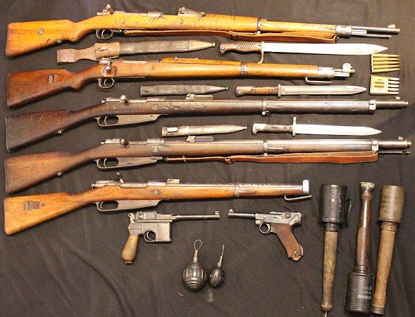 оружие, ручные гранаты и каски армии Германии в годы ПМВ 02