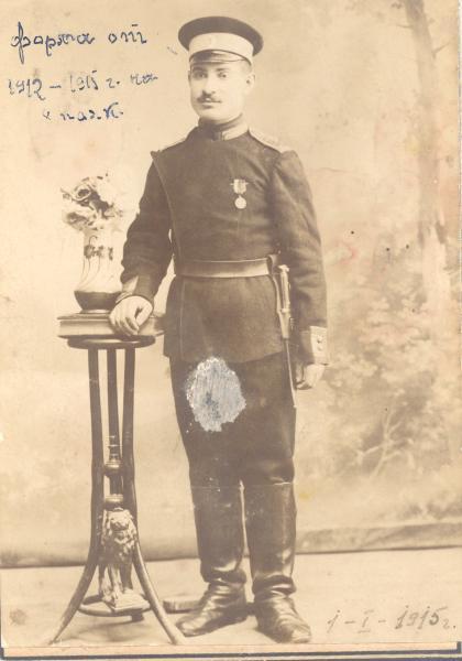 Жеков в униформе 8 го полка, в котором он служид с 1912 по 1915 год (01.01.1915)