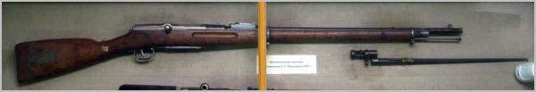 из моделей винтовки обр.1907 года Рощепея в музее 01