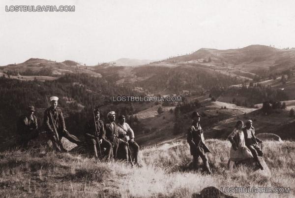 излет край гръцката граница, среща с български и гръцки войник   гранична стража, 30 те години на ХХ век