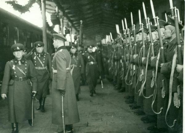 рота на Българската армия за погребението на Кемал Ататюрк