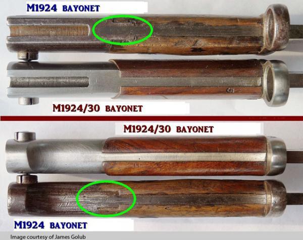m1924 and 24 30 bayonet comparison