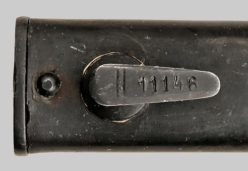 югославский М24Б, переделанный из немецкого штыка SG 98 05 09