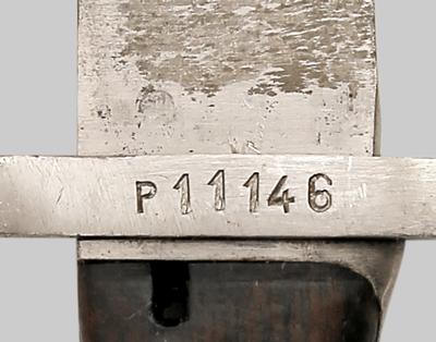 югославский М24Б, переделанный из немецкого штыка SG 98 05 04