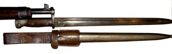 штык из югославского штыка М1924 для винтовки М95М. Вариант 2 (01)