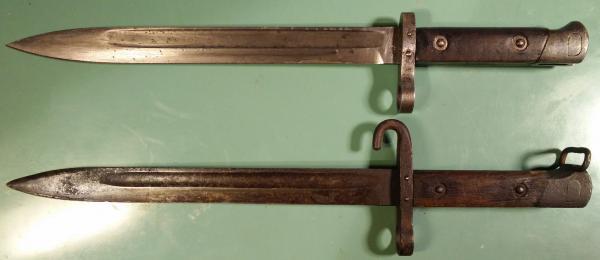 Mannlicher M1895 standard and NCO bayonet