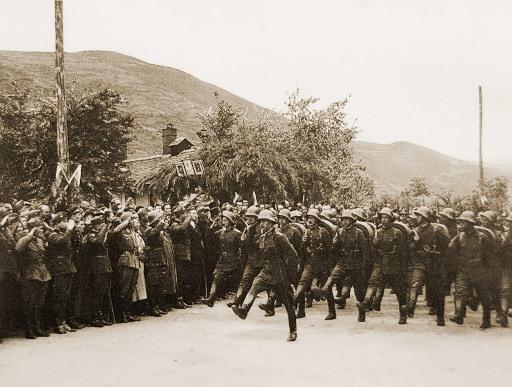 пехота влиза в Струмица   1941г.