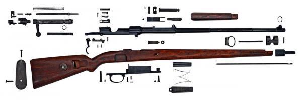 укороченная винтовка Mauser 98k (разобранная) 01