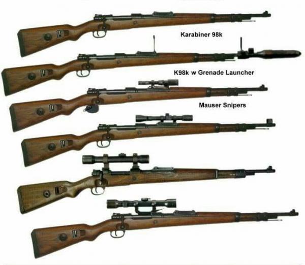 укороченная винтовка Mauser 98k (снайперские и др. варианты) 02