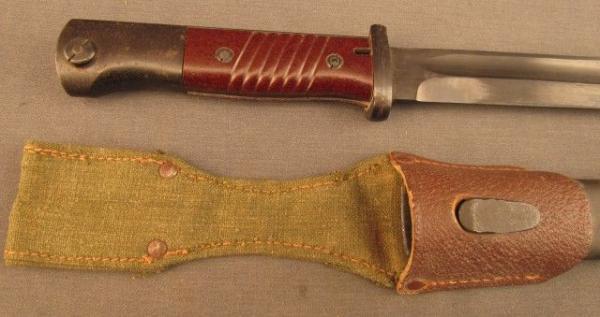 20 Комбинированный (кожано брезентовый) подвес к немецкому штыку обр. 1884 98 года 01