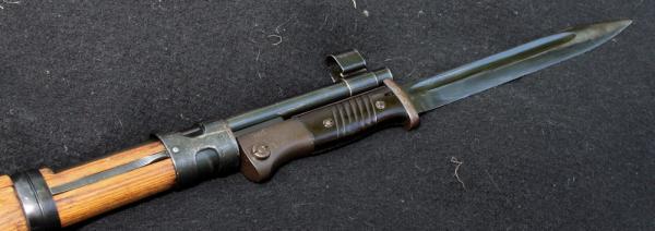 08 Крепление штыка S 84 98 III на винтовке системы Mauser (08)