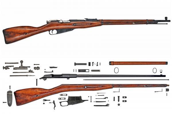 винтовка обр. 1891 1930 года. Разборка 01