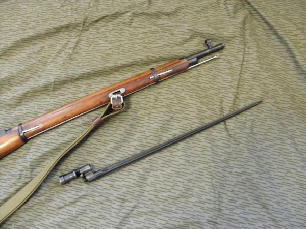 04 Советская винтовка обр. 1891 1930 года и четырёхгранный штык к ней 04