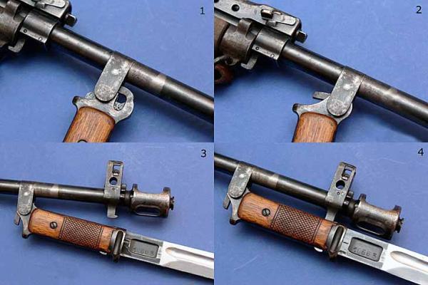 36 Примыкание штыка обр. 1936 года к винтовке АВС 36 (05)