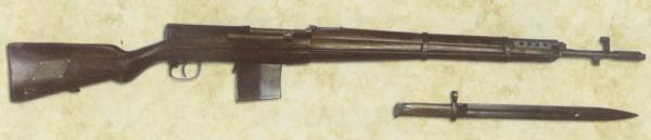 02 Самозарядная винтовка СВТ 38 с отсоедин`нным штыком. Вид справа