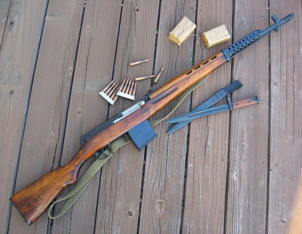 01 Самозарядная винтовка СВТ 40 и штык к ней 01