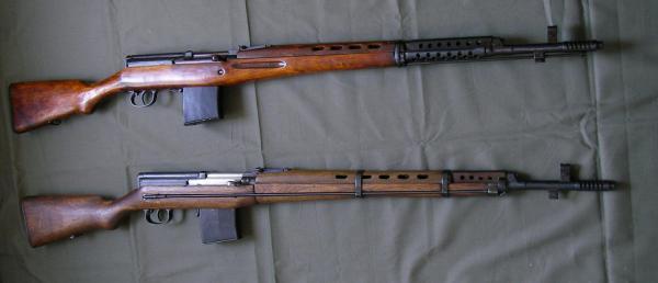 01 Самозарядные винтовки Токарева. СВТ 40 (вверху) и СВТ 38 (внизу) 01