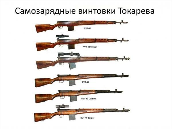винтовки и карабины Токарева 01