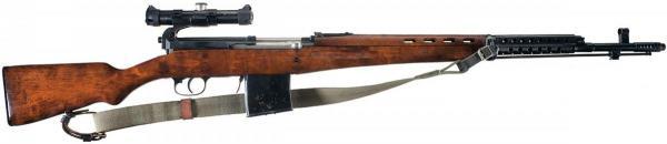 винтовка Токарева  СВТ 40 в снайперском варианте (01)