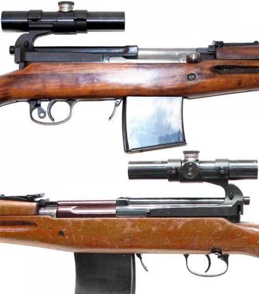винтовка Токарева  СВТ 40 в снайперском варианте (04)