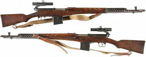 винтовка Токарева  СВТ 40 в снайперском варианте (05)