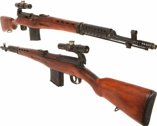 винтовка Токарева  СВТ 40 в снайперском варианте (02)