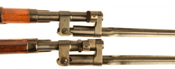 (опытная) советская винтовка 1943 года с несъёмным игольчатым штыком 19