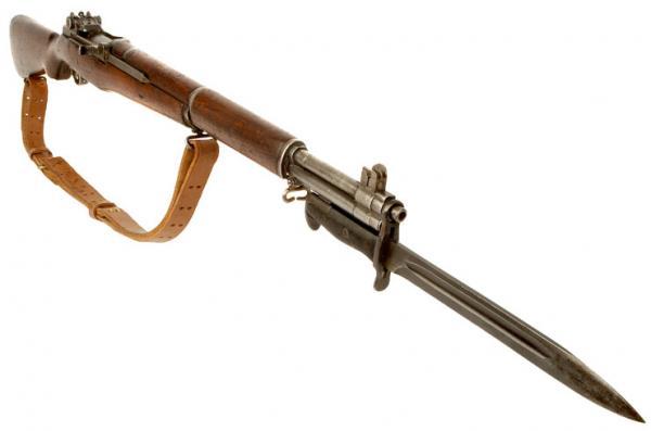 винтовка M1 Garand с примкнутым штыком M1 обр. 1943 года 03
