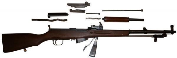 карабин Симонова (СКС 45) с игольчатым штыком 07