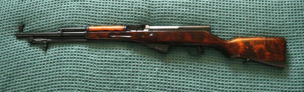 карабин Симонова (СКС 45) с игольчатым штыком 22
