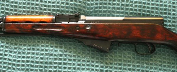 карабин Симонова (СКС 45) с игольчатым штыком 22б