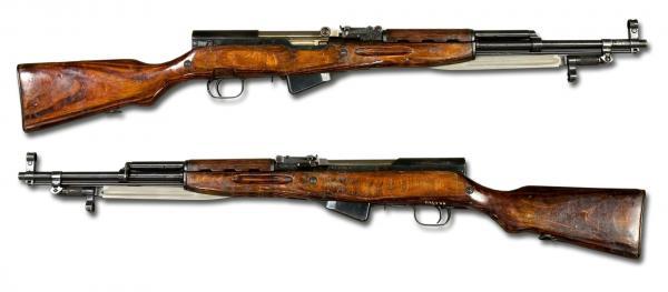карабин Симонова (СКС 45) с клинковым штыком 01