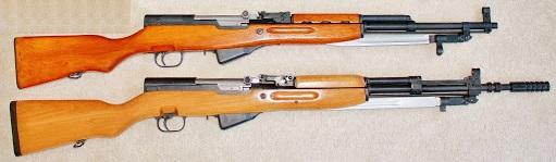 карабина СКС. Norinco Type 56 26, 1966 год (КНР) и Zastava M59 66A1, 1973 год (СФРЮ) 01