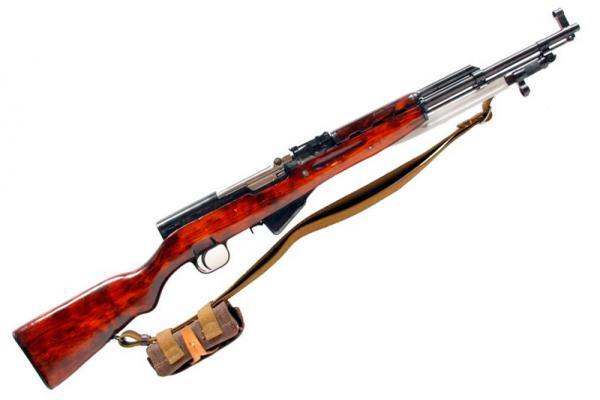 карабин Симонова (СКС 45) с клинковым штыком 04