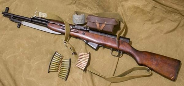 карабин Симонова (СКС 45) с клинковым штыком 05
